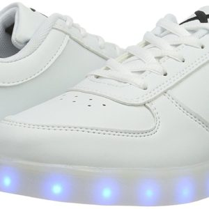 Wize and Ope WIZE & OPE LED Unisex Low Sneakers Earth Made White